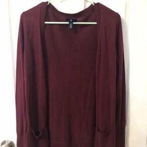 Gap Maroon Cardigan Sweater